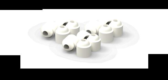 Ceramic beads from Ceramicx