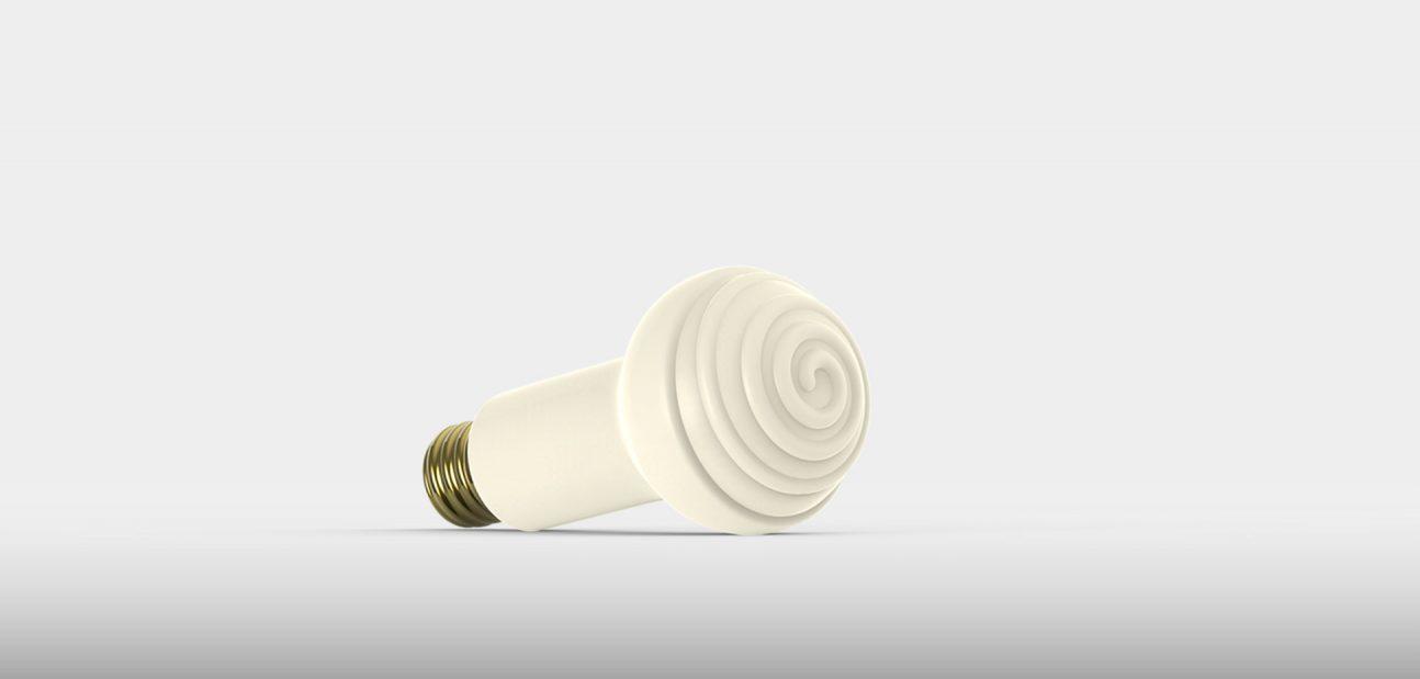 Ceramic Infrared Edison Screw Bulb from Ceramicx