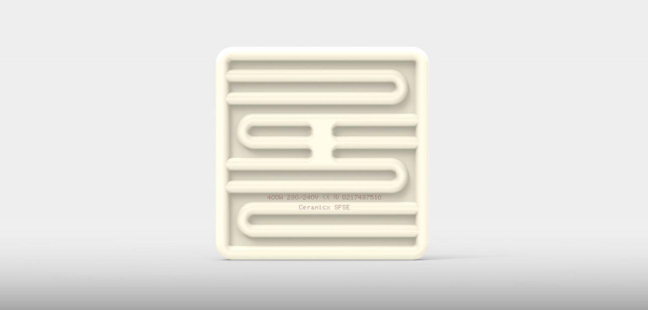 Ceramic Square Flat Solid Element from Ceramicx