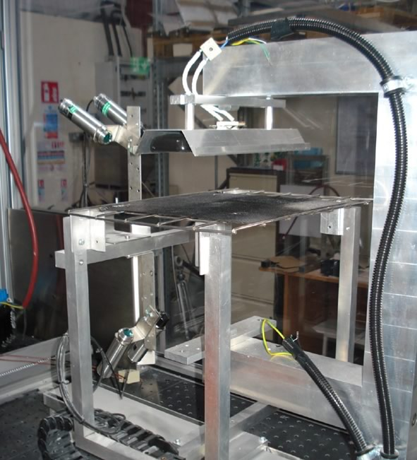 Figure 3: Sample of material in the sandwich tester.
